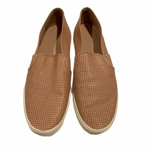 Vince Blair 5 perforated rose leather slip ons